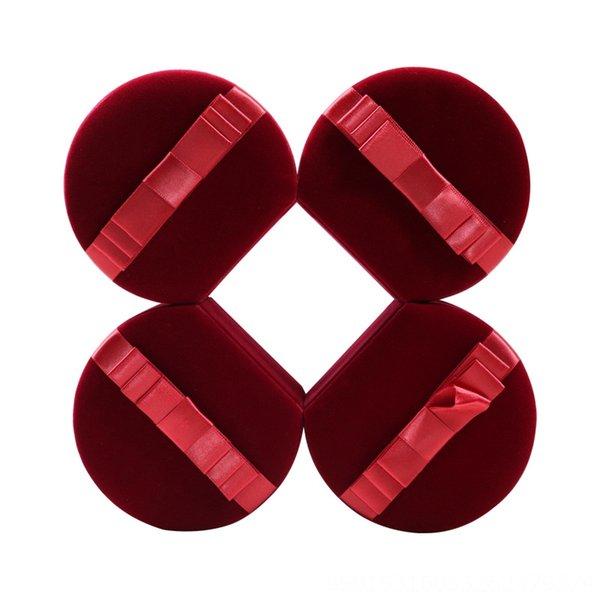 Bague rouge foncé semi-circulaire Boîte 9.8x10.9x