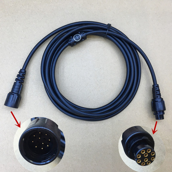 top popular honghuismart Microphone Extend Cable 3m for Hytera MD780 MD650 Digital car vehicle radio good quality 2021