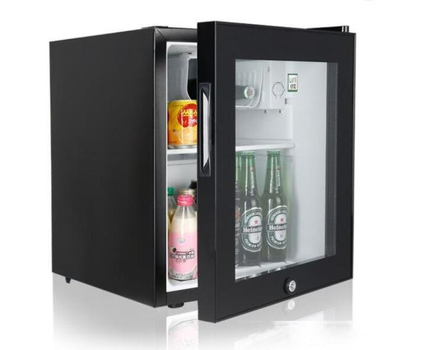 best selling 46L single door glass door small mini refrigerated display cabinet consumer and commercial rooms refrigerator freezer manufacturers