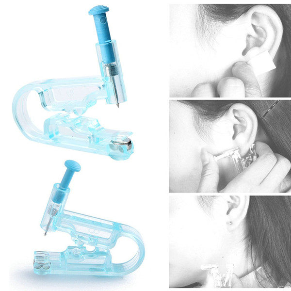 best selling Painless Disposable Healthy Asepsis Ear Piercing Gun Pierce Tool Blue Kit No Infection No Inflammation Ear Piercing Gun Tool 0081