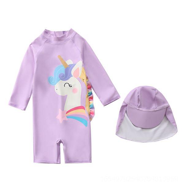 Myy23-7 púrpura del unicornio de una sola pieza