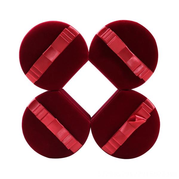Dark Red-Square Boîte de bague 7.5x6.5x5.2