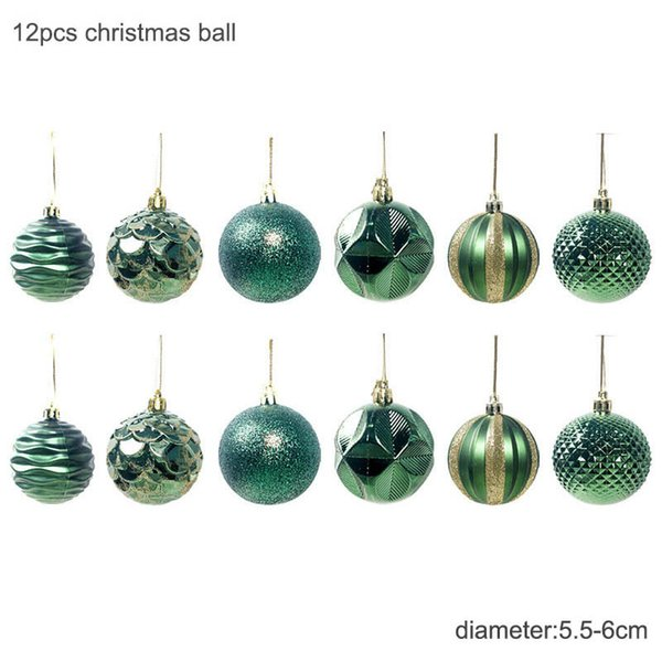 6cm verde palle