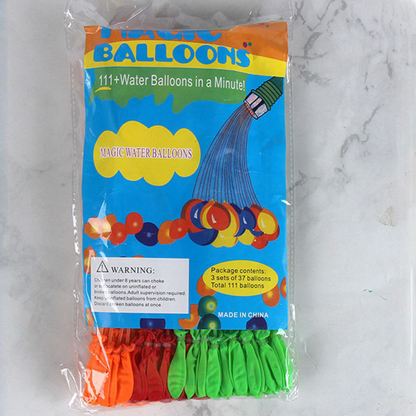 best selling 1Set=111PCS Balloons Water Filled Balloon Amazing Magic Water Balloon Party Bombs Toys Filling Water Ballons Games for Kids Toys