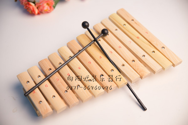 top popular 12-tone aluminum piano percussion instrument hand knocking on xylophone 2021