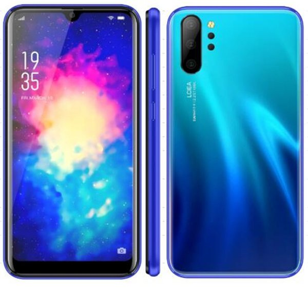 best selling smartphone p30 note10 h10 h20 phones 3D Android 8.1 MTK6580A Quad core cell phone dual Sim show 4gb RAM 64GB ROM 3800mAh Fake 4G LTE DHL