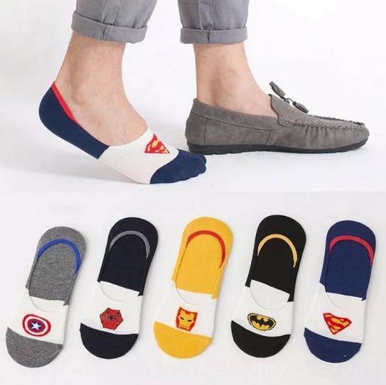 Invisible Estilo Superman Socks