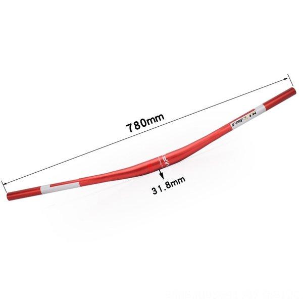 Logotipo de plata manillar 780mm Rojo