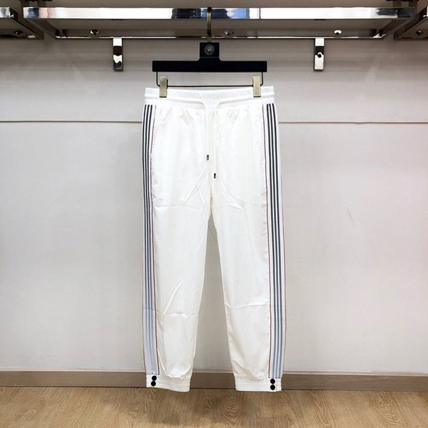 top popular 2020 Men Pants Elastic Hip Hop Waist Striped Full Length Lightweight Sweatpants Jogging Essentials Women Track Pants NEW 2020