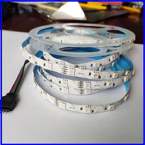 best selling ZS Full Set LED Strip Light RGB LED 5050 Flexible Ribbon RGB Stripe tape diode DC 12V+Remote Control+ Adapter