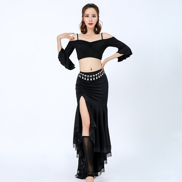 Черная юбка 90см Длинные (за исключением ног Co