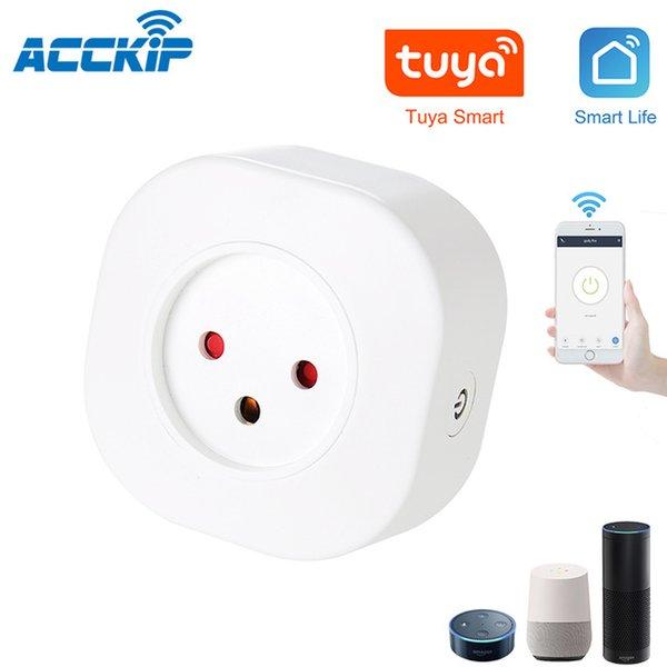 Power Acckip Israël Mini Smart Socket Plug Basic WiFi Sans fil Télécommande Télécommande Adaptateur Power Israël