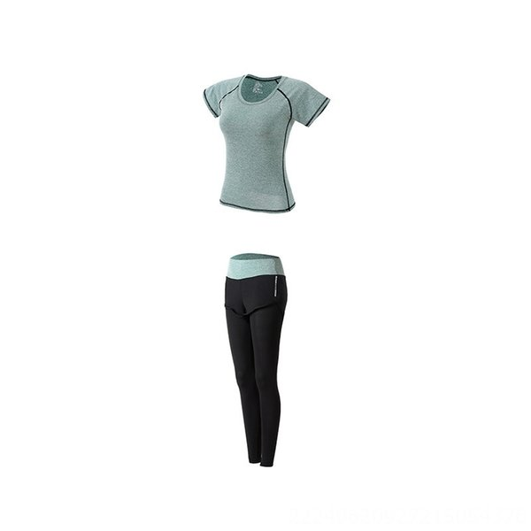 Green Two-piece Set (t-shirt Trousers)