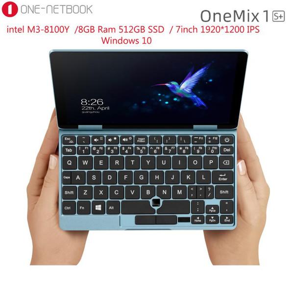 best selling 7 Inch 1920*1200 IPS Mini Laptop One Netbook Onemix 1s+ 8GB Ram 256GB PCIe SSD Pocket PC Intel Core M3-8100Y Windows 10