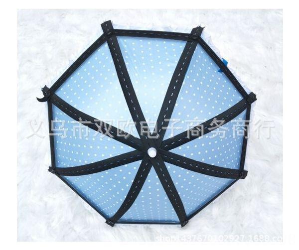 Bleu 8 brins de parapluie