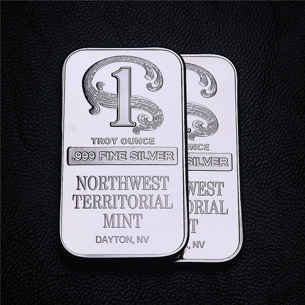 top popular Free shipping 5pcs lot 999 Fine Northwest Territorial Mint Silver Plated Brass Core Bar+northweste silver bar 2021