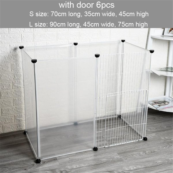 6pcs fence with door