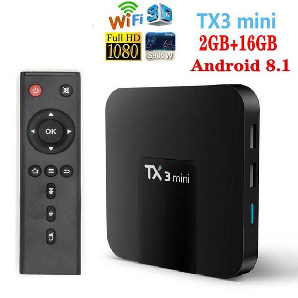 TX3 Mini, 2GB + 16GB, S905W, 2.4G Wifi, Non BT