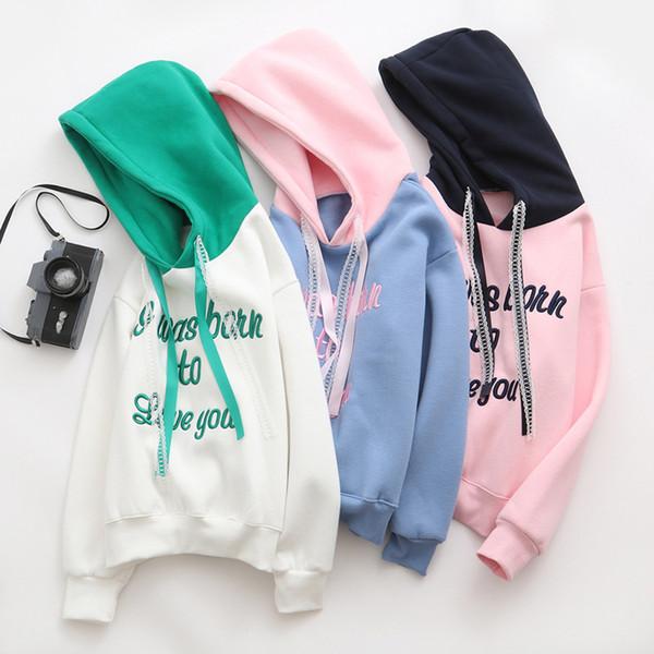 best selling Thick Hoodies strings Sweatshirts White green Cute Fashion Cool comfortbale White Orange