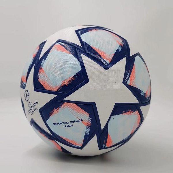 top popular 20 21 European champion Soccer ball 2020 2021 Final KYIV PU size 5 balls granules slip-resistant football Free shipping 2021