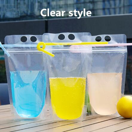Clear style (bag+straw)
