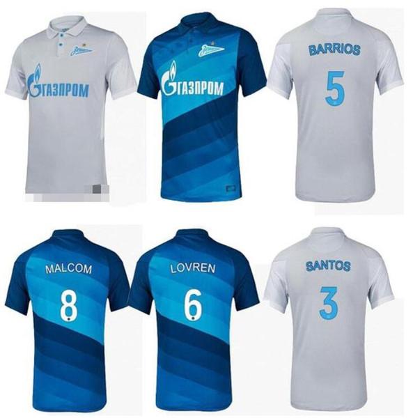 best selling 20 21 FC Zenit St. Petersburg soccer jersey home away blue gray MALCOM Lovren 2020 2021 SANTOS BARRIOS Football Shirt maillots de foot