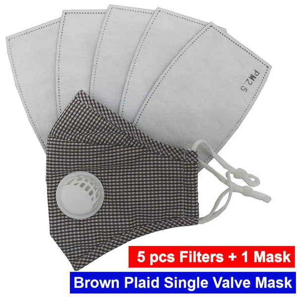 Brown Plaid 1 Valve