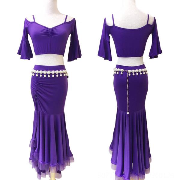 Фиолетовый юбка 90см Длинные (за исключением ног C