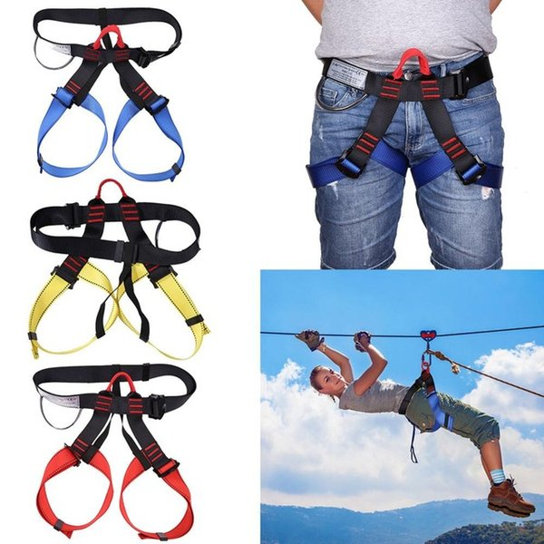 ports & Entertainment Outdoor Sports Rock Climbing Harness Waist Support Half Body Safety Belt Support Body Harness Aerial Survival Equip...