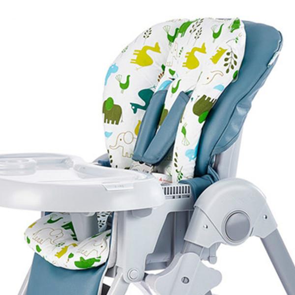 best selling New Baby Kids Highchair Cushion Pad Mat Booster Seats Feeding Chair Stroller Cushion Mat 100% Cotton