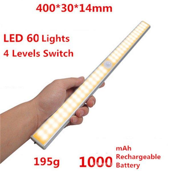 60 LED Şarj edilebilir sıcak beyaz