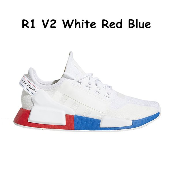 6 White Red Blue