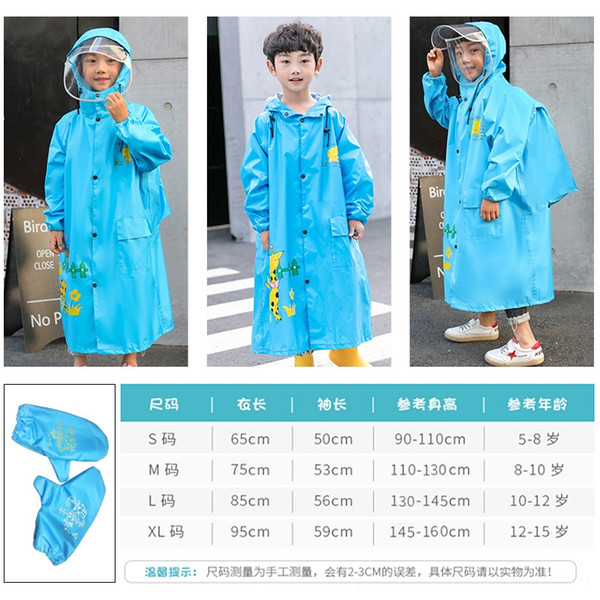 Enfants # 039; Double-Brim Raincoat bande dessinée