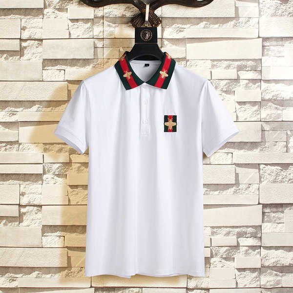 top popular Spring Luxury Italy Tee T-Shirt Designer Polo Shirts High Street Embroidery Garter Snakes Little Bee Printing Clothing Mens Brand 2020 new 2020