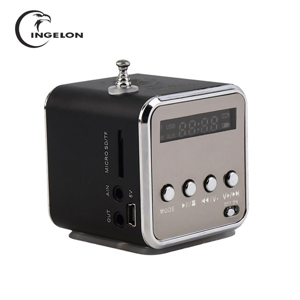 top popular Portable FM Radio with Micro SD   TF   USB 8GB card receiver MP3 Music Player Built-in LINE IN audio interface Speaker LCD Stere 2021