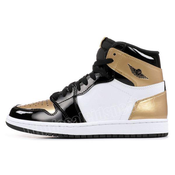 gold toe with black symbol