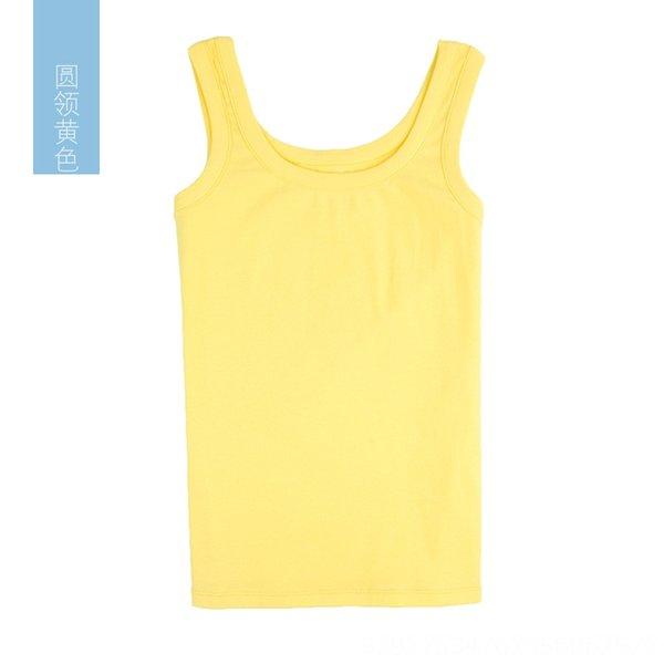 Cuello redondo de color amarillo