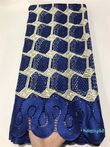 top popular Wholesale-2020 Skin friendly Top Class Neat embroidery Guipure lace Very soft African cord fabric Nigerian Ghana celebration sewing gown 2021