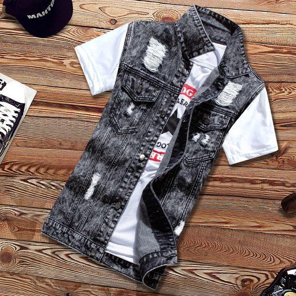 02 rasgado Parte do floco Vest Individual