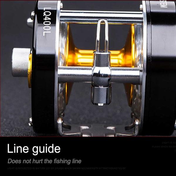 Carretes de pesca de montón Dasnaki Centrifugal Freno 5.2: 1 Carrete de pesca resistente a la alorrosión con click Haga clic en el metal de giro a la derecha de la mano izquierda Cebo c ...