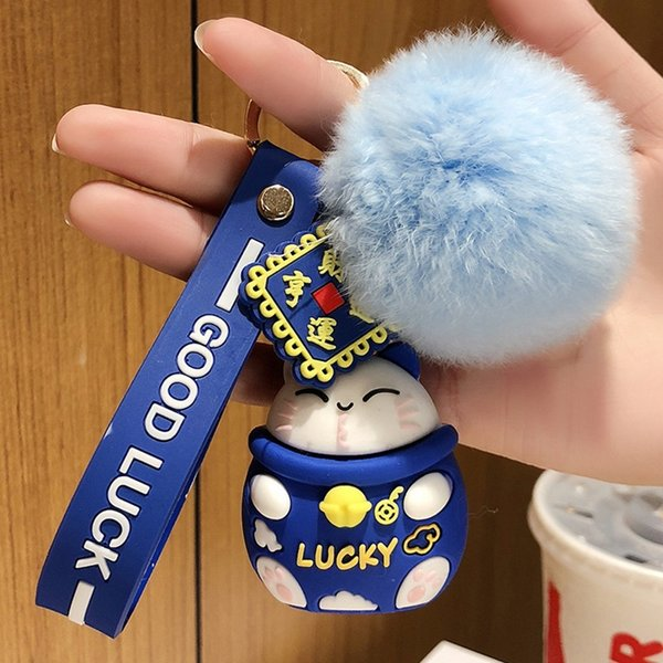 Gato afortunado azul + Fur Ball-Individual OppBag