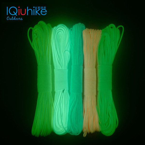 amping & Hiking Paracord 5 Meters Luminous Paracord 550 Parachute Cord Lanyard Rope Mil Spec Type III 7 Strand Climbing Camping Survi...