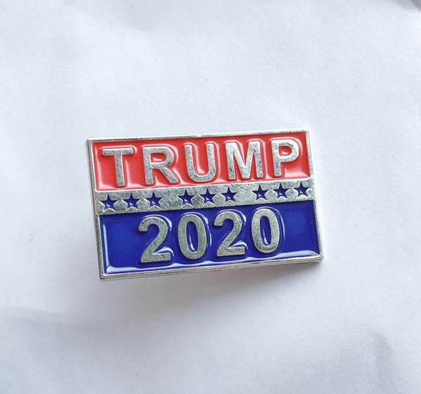 top popular Presidential Election Trump 2020 Brooch U.S. Patriotic Republican Party Campaign Metal Brooch Metal Brooch Clothing Accessories Pin 2021