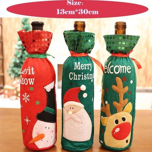 Coperchio per bottiglie di Natale 13 * 30 cm
