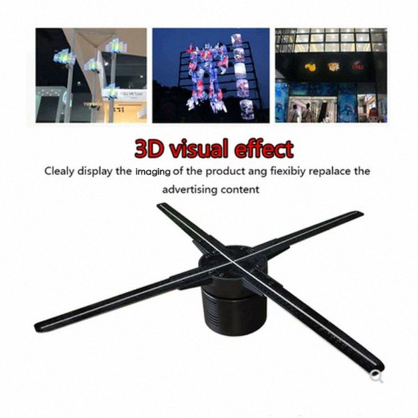top popular 4 Fan Blades 3D Holographic Display LED Fan Advertising Machine with WIFI Control Holographic Imaging for Exhibition y0hx# 2021