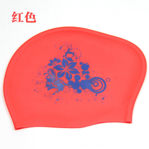 Red (silicone Flower Swimming Cap)
