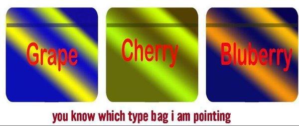 mélanger 3 types nouveaux sacs