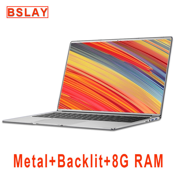 best selling Laptop 15.6 inch With 8G RAM 128G 256G 512G 1TB M.2 SSD Notebook Computer Laptops With Metal Body IPS Display Backlit Keyboard