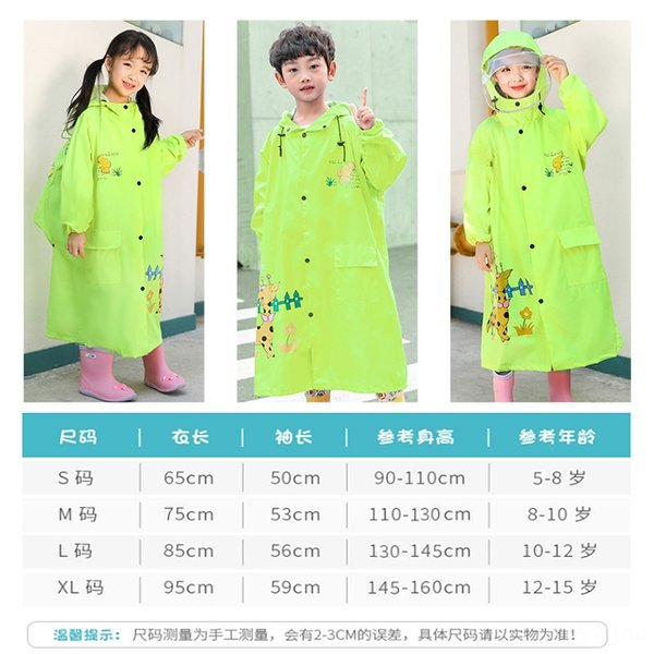 Enfants # 039; Double-Brim Raincoat Déess
