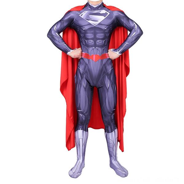 Púrpura Superman adulto (con Capa)